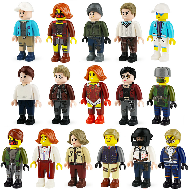 City Life Girl Friends People Buidling Block Figure Woman White-Collar Various Vocations Person For Brick Scene Action Figure