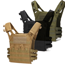 лучшая цена Military Tactical Vest in Hunting Molle Combat Assault Plate Carrier Waistcoat Outdoor Clothing Hunting Vest Airsoft Equipment