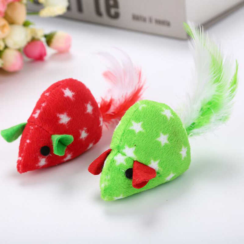 Funny Grinding 1 Pc Toys Plush Cloth Cute Colorful Funnytoy Mouse Petsproduct Pet Computers Catnip Pets