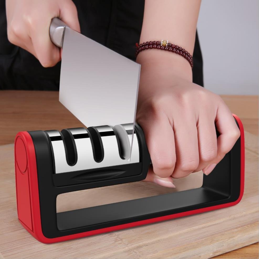 Professional Knife Sharpener diamond Quick Professional 3 Stages Sharpener Knife sharpening Tools Sharpening Stone