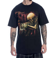 Sullen Men's Torres T Shirt Black Hip Hop Skull Clothing Apparel Tops summer o neck tee, free shipping cheap tee(China)