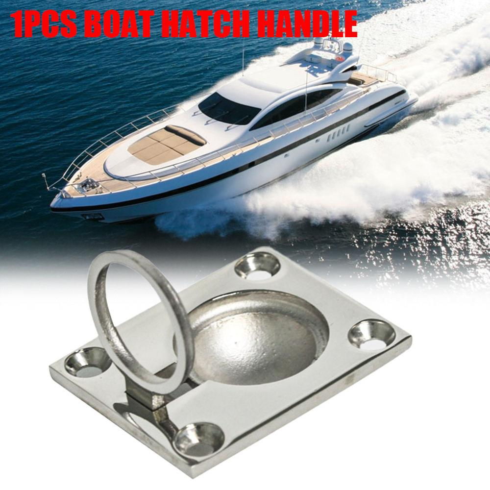 4.8x3.8cm Marine Deck Cover Handle Boat Deck Hatch Cabinet Drawer Lifting Handle Pull Ring Flush Mount Boat Accessories Marine