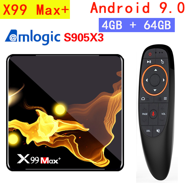 X99 Max Plus TV BOX Android 9.0 Amlogic S905X3 Quad Core 4GB RAM 32GB 64GB Wifi 1000M BT 8K Set top box media player PK X96 MAX
