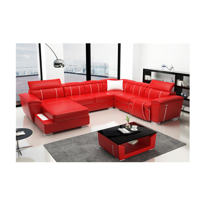 Modern Couch Living Room Red Color