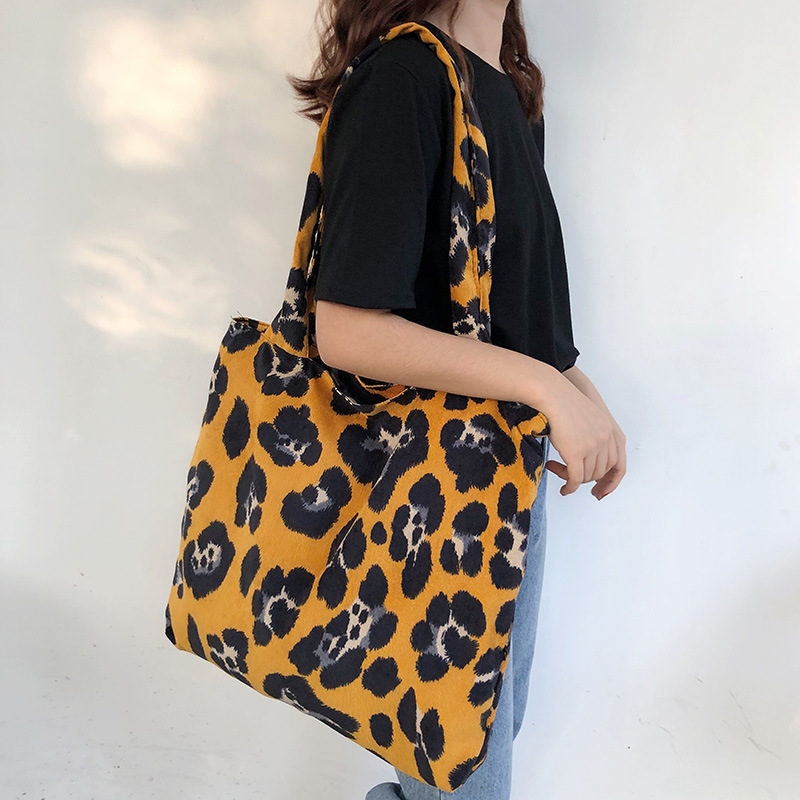 Canvas Handbag For Girls Ladies Large Capacity Casual Shoulder Bag Women Totes Bolsa Feminina
