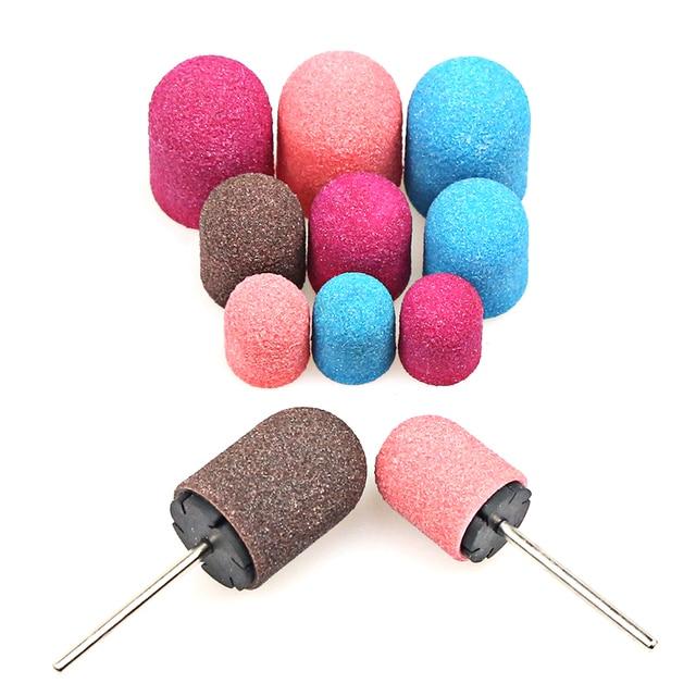 5PCS 10*15 13*19 16*25 Sanding Caps Rubber Mandrel Foot Cuticle Cutter for Pedicure Polishing Sanding Band for Pedicure Tool 4