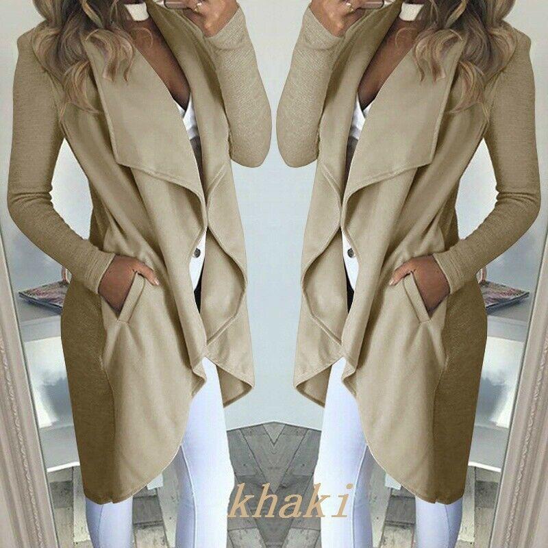 New Fashion Women Lady   Trench   Coat Long Sleeve Sexy Slim Fit Cardigan   Trench   Coat Long Tops Waterfall Coats Women Outwears