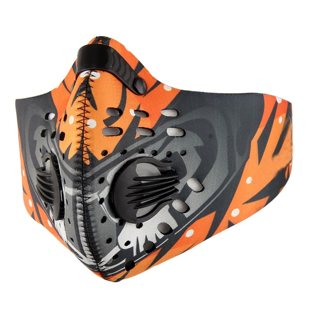 Men Women Cycling Face Mask Nylon Spandex Activated Carbon Non-woven Cloth Breathable Dust-proof Adjustable Mouth Protection New