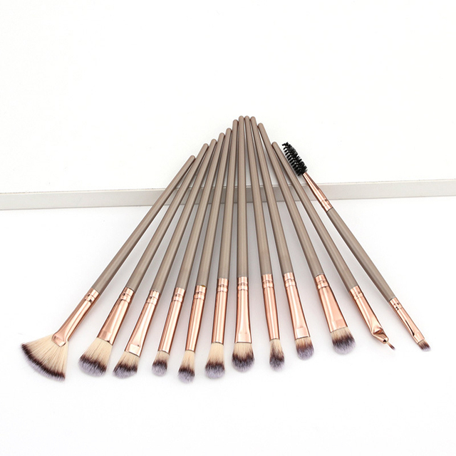 Makeup Brushes Set 1-12pcs Eye Shadow Blending Eyeliner Eyelash Eyebrow Make up Brushes Professional Eyeshadow Brushes wholesale 3