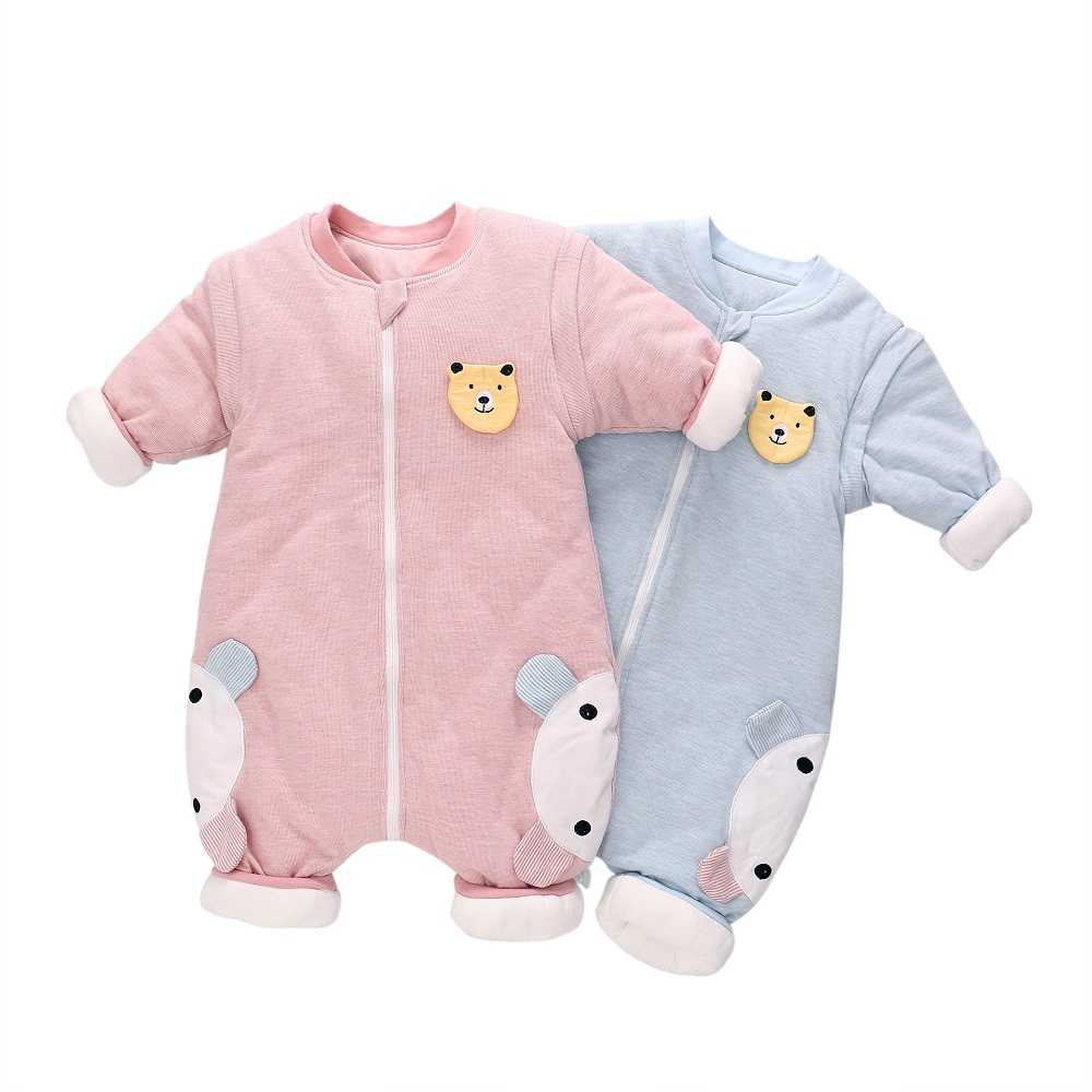 Baby Sleeping Bag Autumn Winter Outdoor Padded Rompers Newborn Thickened Sleeping Bag With Split Legs 18M~3T 3SIZE
