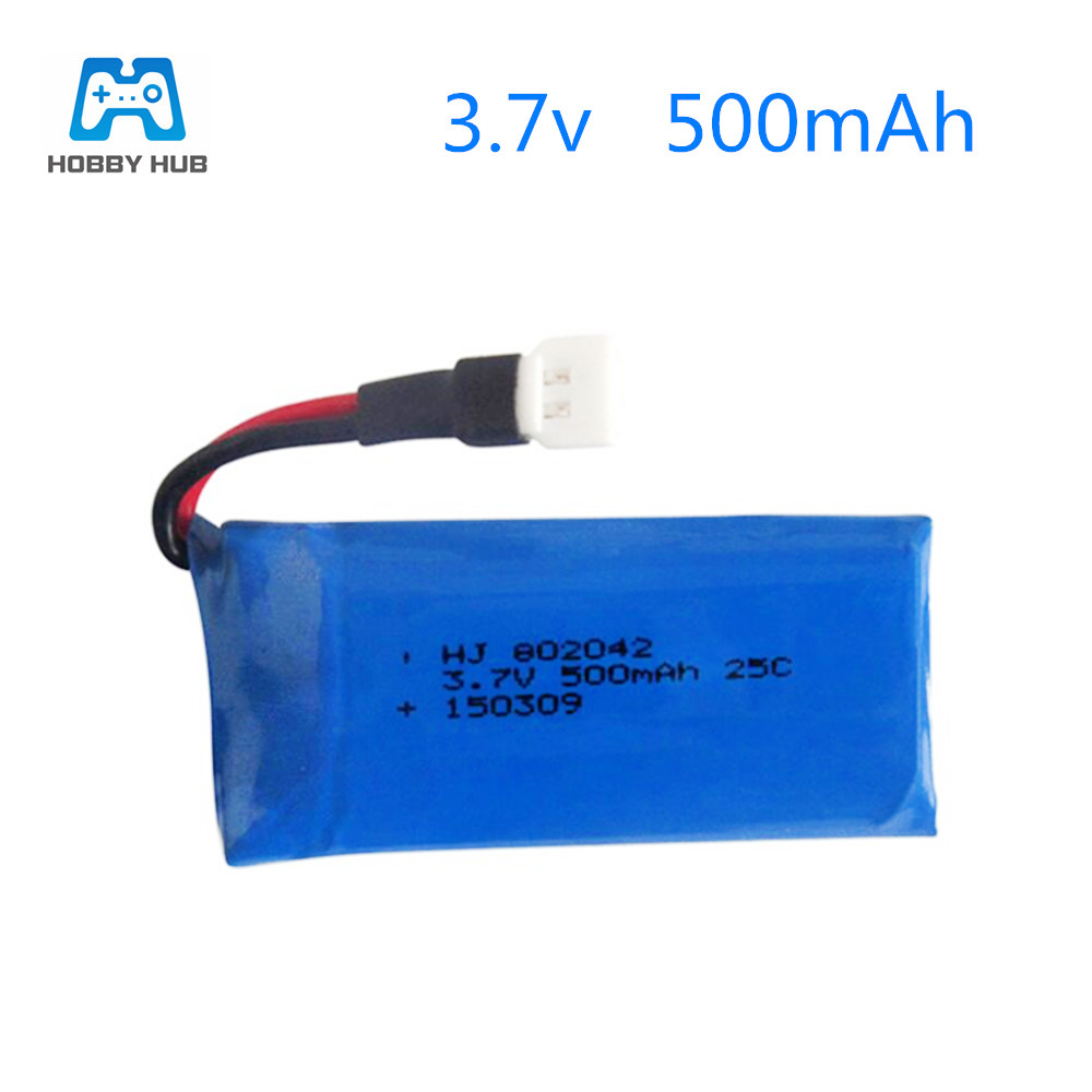 3.7v <font><b>500mah</b></font> Lipo <font><b>Battery</b></font> For H43WH Udi U941 U816A U927 WIFI818 107 385 RC Quadcopter Spare Parts <font><b>3.7</b></font> V 500 mah 802042 lipo image