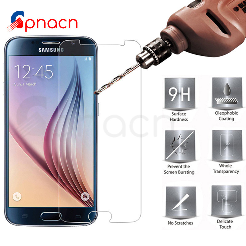 9H Tempered Glass On The For Samsung Galaxy S7 S6 S5 S4 S3 Mini Samsung Note 5 4 3 Screen Protector Protective Glass Film Case