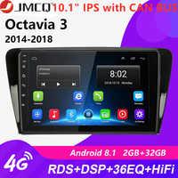 """10.1 """"2din android 8.1 rádio do carro para volkswagen skoda octavia 3 a7 2014-2018 unidade principal estéreo da navegação rds do jogador dos multimédios"""