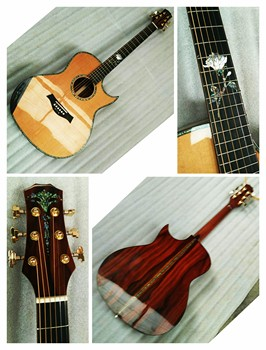 free shipping AAAA all solid wood custom coco bolo wood single cut design acoustic electric guitar free shipping chinese factory custom 2017 100% new mt d 28 acoustic guitar matte finish neck backside nature color 323
