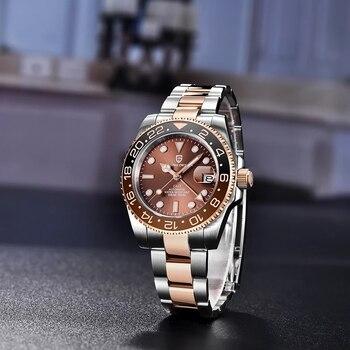 PAGANI DESIGN GMT 40mm Mechanical Wristwatch Men's Top Brand Stainless Steel Sports Waterproof Automatic Watch Relogio Masculino 2
