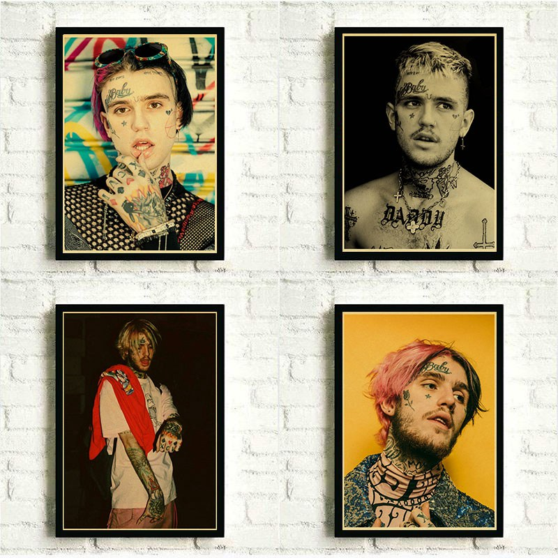 Lil Peep Hip Hop Singer Poster Modern Painting Wall Art Pictures For Bedroom Wall Decorative Posters