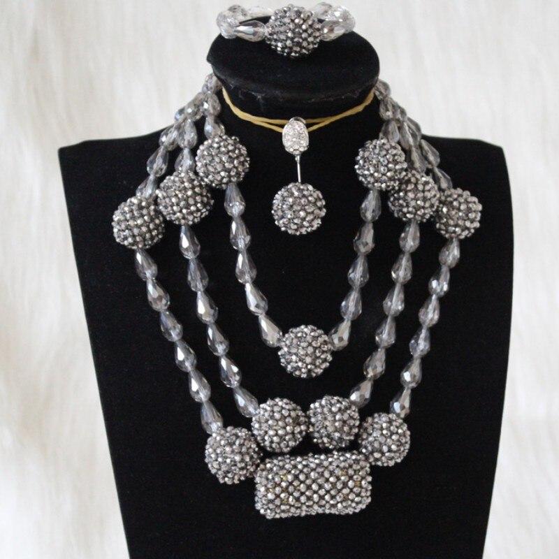 Dudo Store bijoux pour femmes ensemble Simple collier de mariée africaine ensemble en argent 2019 ensemble de bijoux avec livraison gratuite 3 pièces
