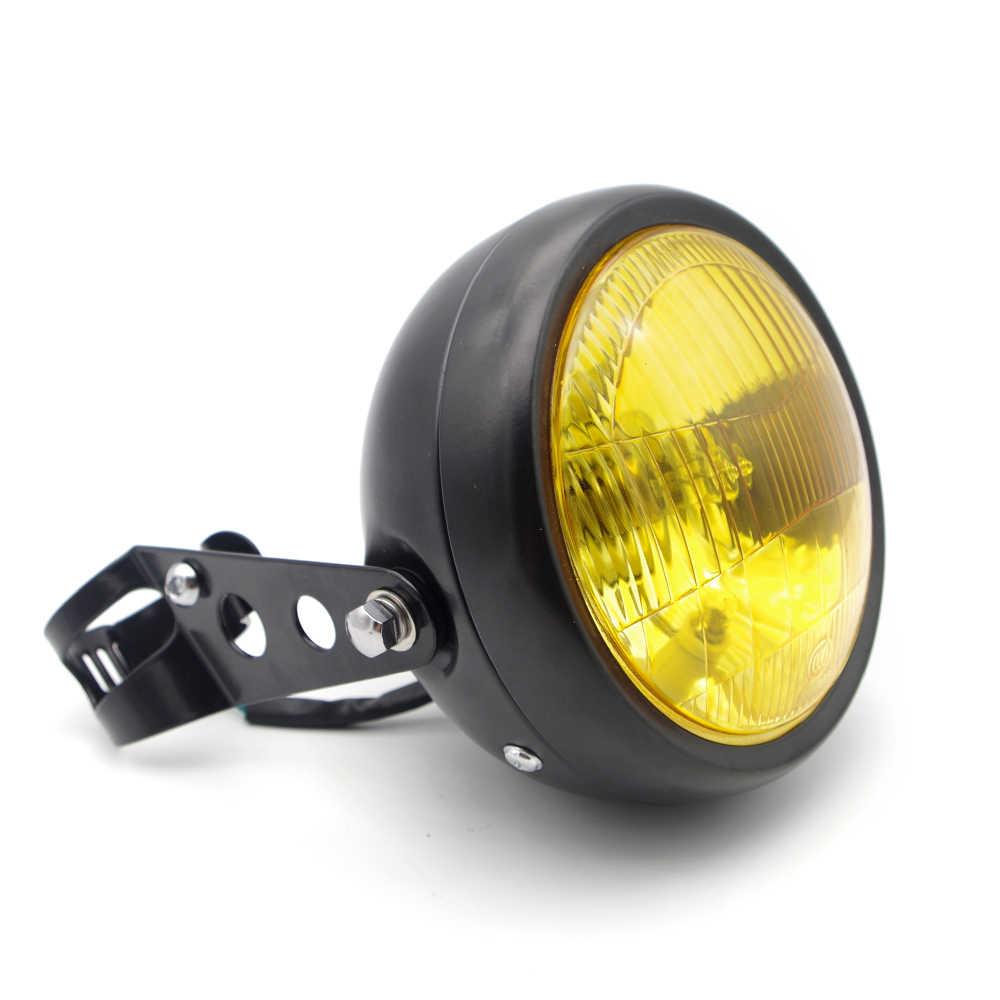 Universal Motorcycle Headlamp Bracket Cover halogen Headlight for honda cb600 hornet yamaha virago 535 ktm exc honda crf450
