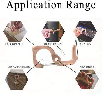 Higiena ręczna antybakteryjny mechanizm otwierania drzwi EDC przenośna prasa winda narzędzie klamka klucz tanie i dobre opinie FGHGF Automatyczne bram