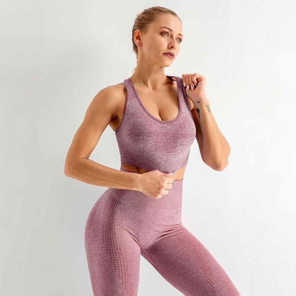 Vêtements de Yoga, tenue et costume de sport pour Gym et Fitness, ensemble de 2/3/5 pièces pour femmes, sans couture, vêtements d'entraînement