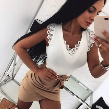 Meihuida Women Sexy Lace Veat Top Fashion Ladies Sleeveless V-NECK Soft Fabric Solid Slim Camisole Shirt Top v neck lace cuff top