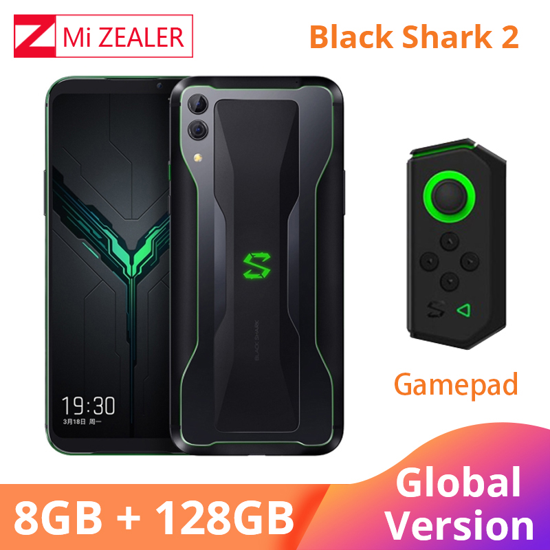 2019 In Stock QC4.0 Global Version Xiaomi Black Shark 2 8GB 128GB Gaming Smartphone Snapdragon 855 6.39
