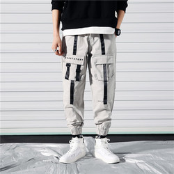 Autumn Overalls Men Fashion Solid Color Casual Cotton Multi-pocket Tooling Pants Man Streetwear Hip Hop Loose Joggers Sweatpants