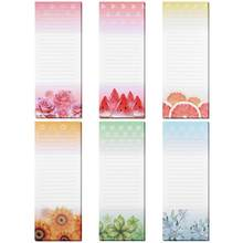 6PCS Magnetic Self-stick Notepads Refrigerator Reminders Memo Pad for Grocery Shopping Message Label Sticker(China)