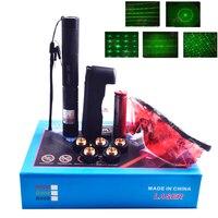 Ponteiro Laser verde mira laser de 303 ponteiro de alta intensidade do laser foco ajustável laser estrela cap 303 + carregador + 18650 bateria
