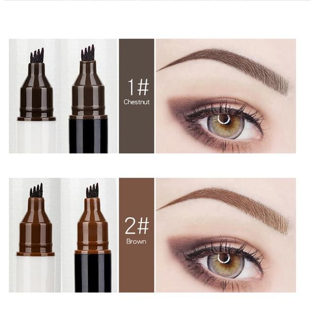 Micro Eyebrow Eyeliner Marker Pencil Double-head Liquid Eye Liner Brow Thin Pen Waterproof Tattoo Eyebrows Eyeliners Makeup Sets