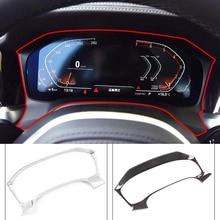 Für BMW 3 Serie G20 G28 2019 21 ABS Chrome Carbon Stil Auto Instrument Schreibtisch Dashboard Rahmen Aufkleber Auto styling