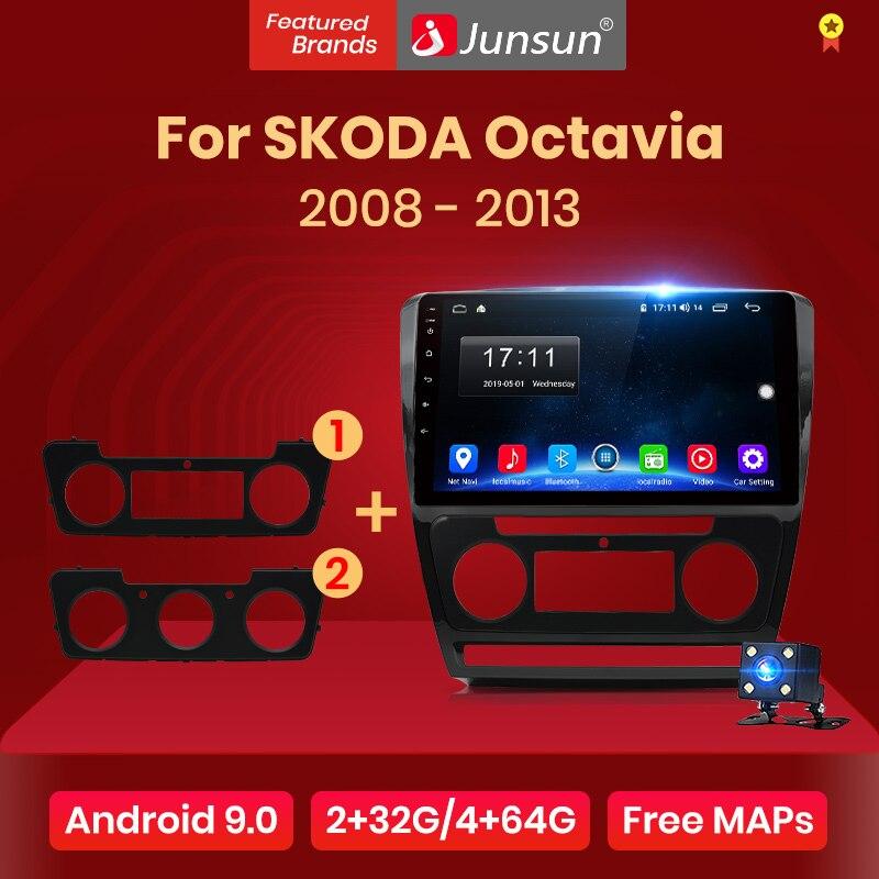 Junsun V1 2G 128G Android 9 0 DSP For SKODA Octavia 2 2008-2013 Car Radio Multimedia Video Player Navigation GPS RDS 2 din dvd