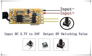 Image 2 - 433 MHz  RF Wireless Remote Control Switch Mini Small Relay Circuit Module 3.7v 5v 6v 9v 12v Battery Power  Momentary Controller