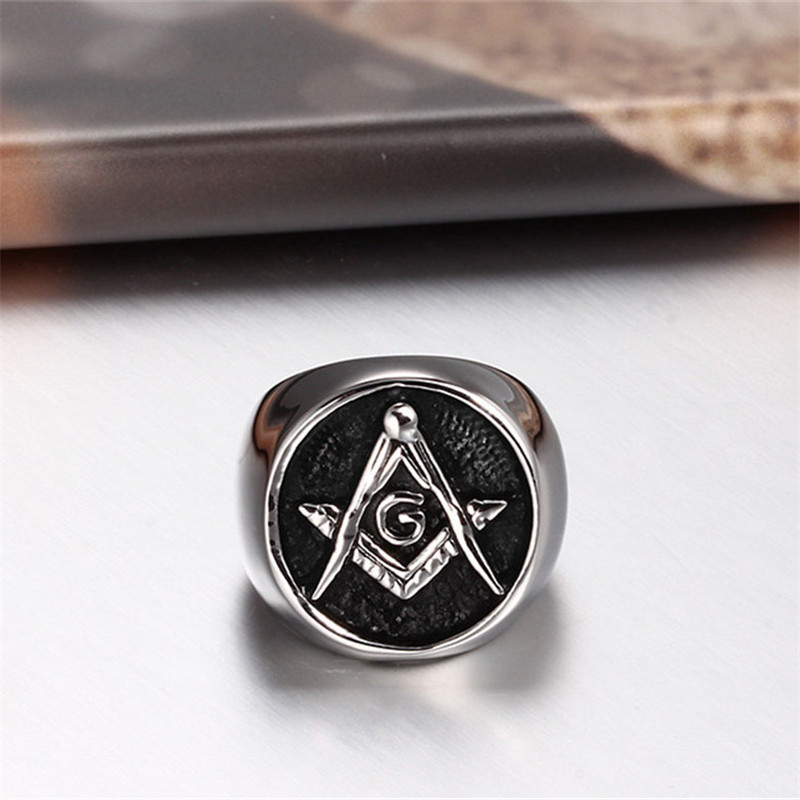 Free Mason Stainless Steel Ring 2