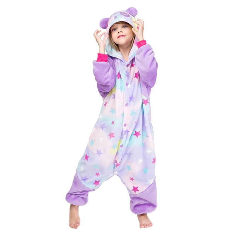 JYBIENBB Kigurumi Onesie Kids Unicorn Pajamas For Children Animal Cartoon Sleepers Baby Costume Winter Boy Girl Licorne Jumspuit