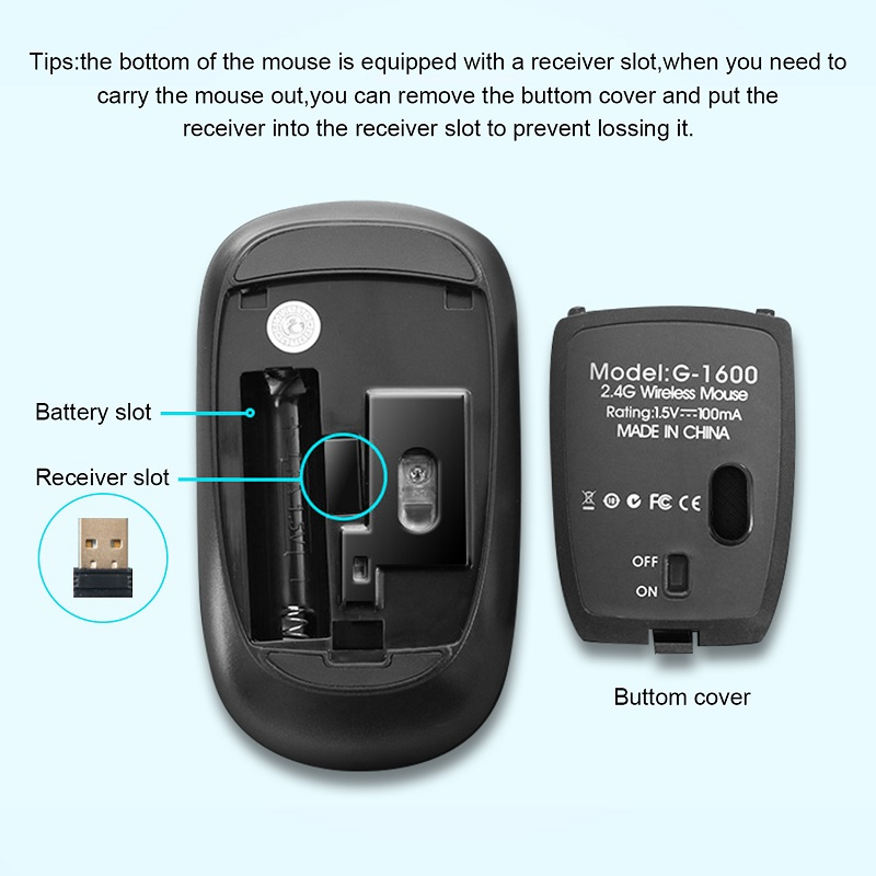 Ergonomic Mouse Wireless Mouse Computer Mouse PC USB Optical 2.4Ghz 1600 DPI Silent Mause Mini Noiseless Mice For PC Laptop Mac 2