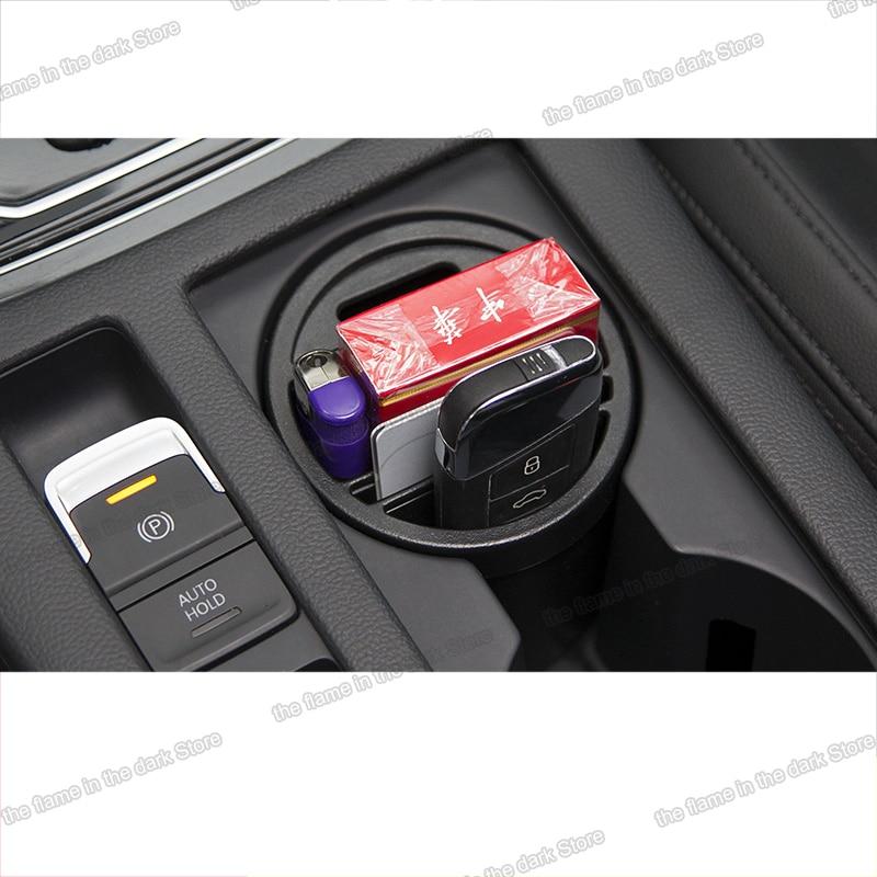 Lsrtw2017 Abs Car Cup Storage Box For Volkswagen Passat B8 Variant 2016 2017 2018 2019 2020 Interior Accessories