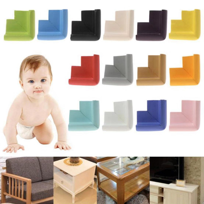 10Pc Baby Safety Corner Desk Guards Rubber Table Protection Kids L Shaped Soft Edge