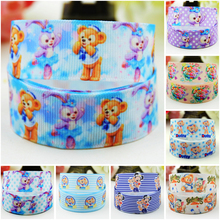 7/8 (22mm) Duffy Bear Cartoon Character printed Grosgrain Ribbon party decoration satin ribbons OEM 10 Yards Mul072