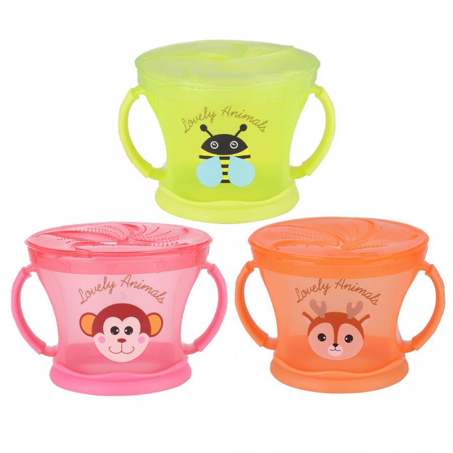 Baby Snack Container Food Storage Cup Infant Bowl Toddler Kids Feeding Food Bowl Snack Storage Container Silicone Cups