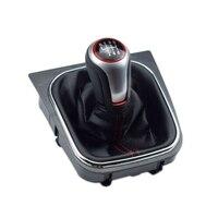 6 velocidade do deslocamento de engrenagem knob & boot capa para volkswagen golf 6 mk5 mk6 1k0711113cf