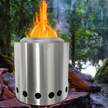 Stove Camping Outdoor for Furnace Wood Folding Practical Stainless-Steel Portable Winter