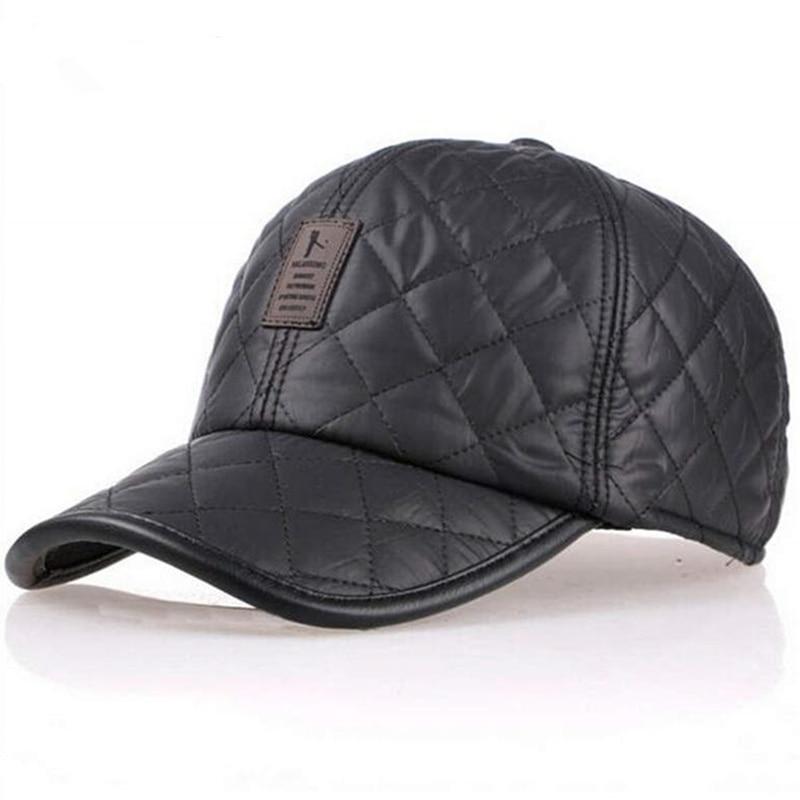 High Quality Baseball Cap Men Autumn Winter Fashion Caps Waterproof Fabric Hats Thick Warm Earmuffs Baseball Cap 4 Colors