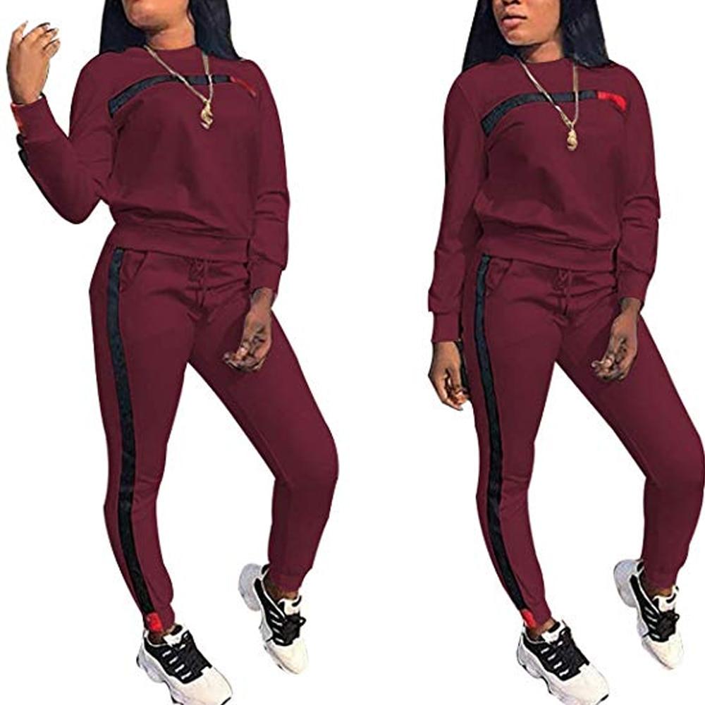 Conjunto De 2 Piezas De Moda Para Mujer Sudadera Con Capucha De Manga Larga Informal Pantalones Chandal Sudadera Pantalones Traje Informal Leather Bag