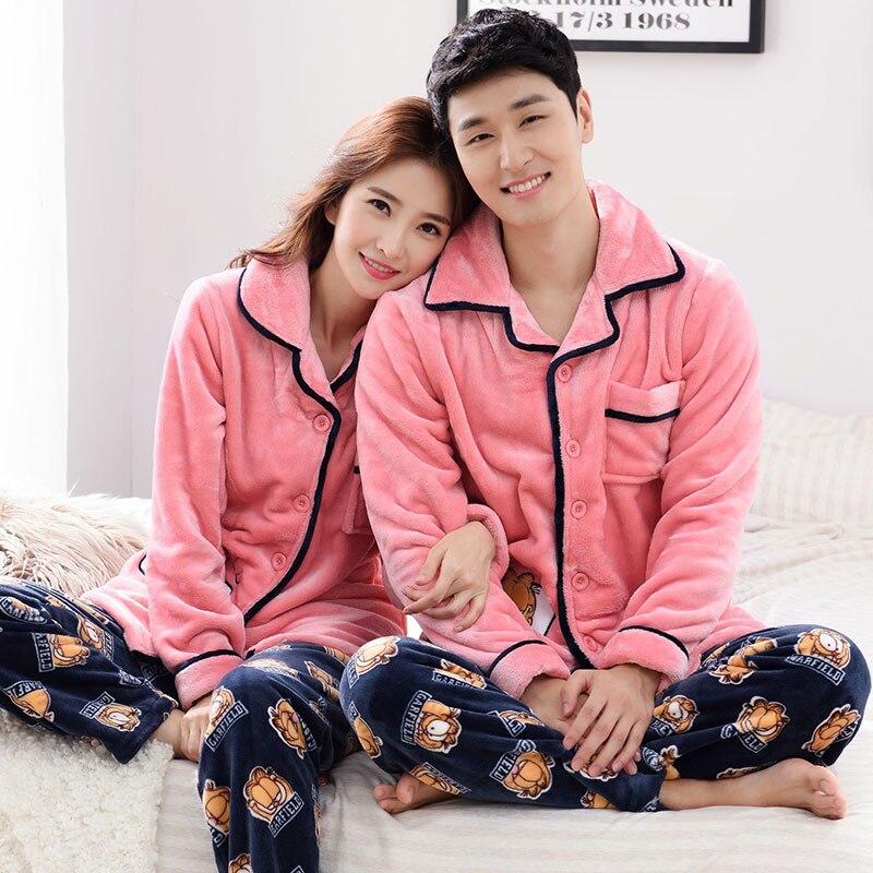 Winter Warm Long Sleeve Women Pajama Sets Thick Warm Coral Velvet Flannel Lounge Nightgowns Elegant Women Sleepwear Home Fashion