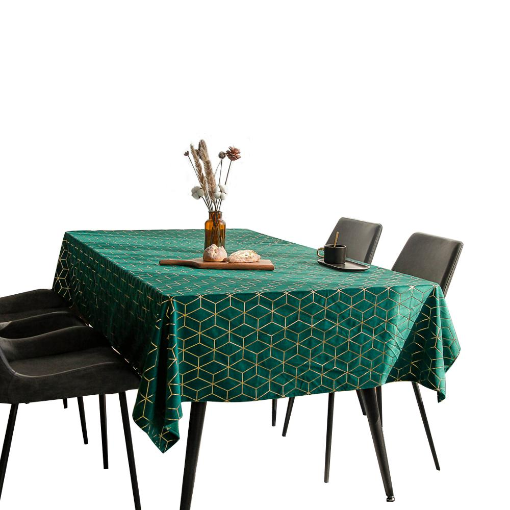 Горячая Распродажа от производителя, домашняя декоративная бархатная скатерть с геометрическим принтом золотого цвета в скандинавском стиле|Скатерти| | АлиЭкспресс