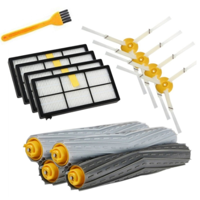 14PCS HEPA Filters Brushes Replacement Parts Kit for IRobot Roomba 980 990 900 896 886 870 865 866 800 Accessories Kit