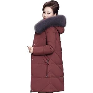Image 1 - Veste dhiver pour femmes, manteau à capuche pour maman, grande taille 7XL 8XL, Parka épais en coton, manteaux chauds et longs, C5865