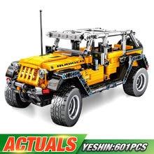 Yeshin 701601 Technic игрушечные машинки Jeep Wrangler Rubicon модель автомобиля строительные блоки кирпичи совместимы с Legoing детские игрушки подарок