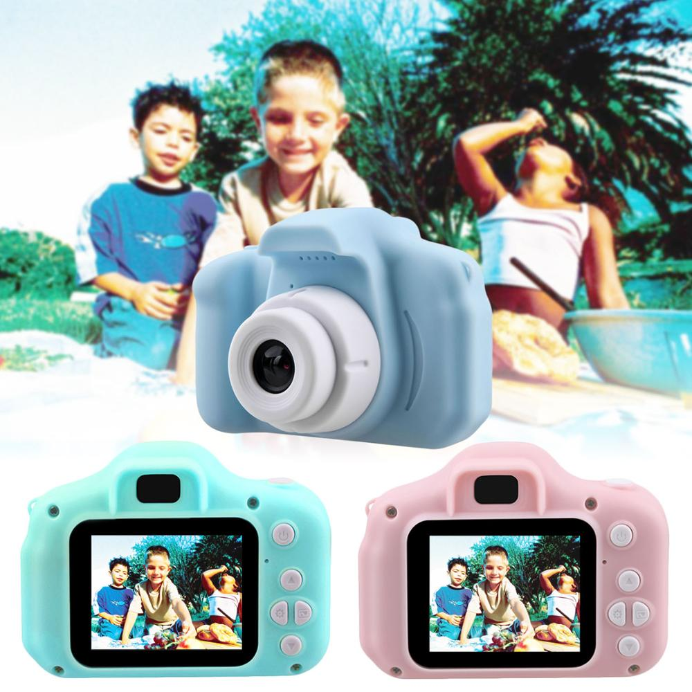 Kids Mini Cartoon Digital Camera 1080P Rechargeable Camcorder Camera 2 Inch Display Screen Video Photo Photography Camera Toy